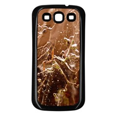 Ice Iced Structure Frozen Frost Samsung Galaxy S3 Back Case (black)
