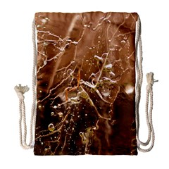 Ice Iced Structure Frozen Frost Drawstring Bag (large)