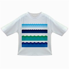 Water Border Water Waves Ocean Sea Infant/toddler T Shirts