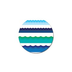Water Border Water Waves Ocean Sea Golf Ball Marker (10 Pack)