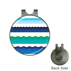 Water Border Water Waves Ocean Sea Hat Clips With Golf Markers