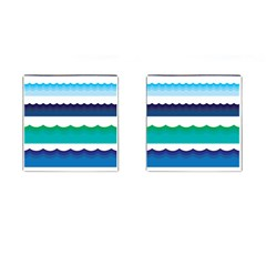 Water Border Water Waves Ocean Sea Cufflinks (square)