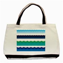 Water Border Water Waves Ocean Sea Basic Tote Bag