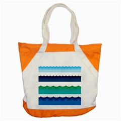 Water Border Water Waves Ocean Sea Accent Tote Bag
