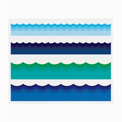 Water Border Water Waves Ocean Sea Small Glasses Cloth (2 Side)