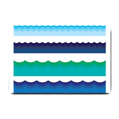 Water Border Water Waves Ocean Sea Small Doormat