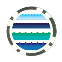 Water Border Water Waves Ocean Sea Poker Chip Card Guards