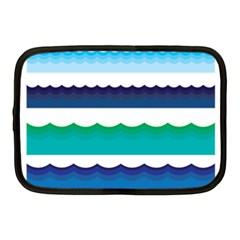 Water Border Water Waves Ocean Sea Netbook Case (medium)