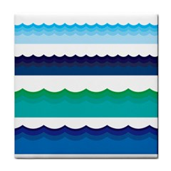 Water Border Water Waves Ocean Sea Face Towel