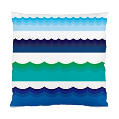 Water Border Water Waves Ocean Sea Standard Cushion Case (two Sides)