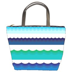 Water Border Water Waves Ocean Sea Bucket Bags