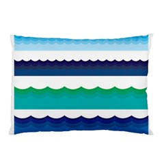 Water Border Water Waves Ocean Sea Pillow Case