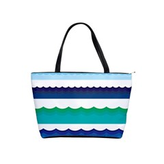 Water Border Water Waves Ocean Sea Shoulder Handbags