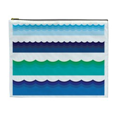 Water Border Water Waves Ocean Sea Cosmetic Bag (xl)
