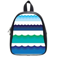 Water Border Water Waves Ocean Sea School Bags (Small)