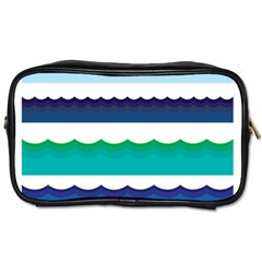 Water Border Water Waves Ocean Sea Toiletries Bags 2 Side