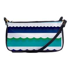 Water Border Water Waves Ocean Sea Shoulder Clutch Bags