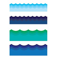 Water Border Water Waves Ocean Sea 5 5  X 8 5  Notebooks