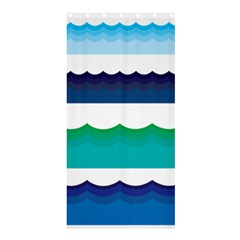 Water Border Water Waves Ocean Sea Shower Curtain 36  X 72  (stall)
