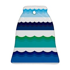 Water Border Water Waves Ocean Sea Bell Ornament (2 Sides)