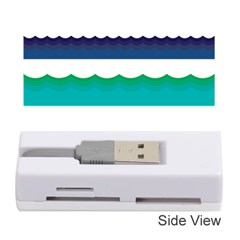 Water Border Water Waves Ocean Sea Memory Card Reader (stick)