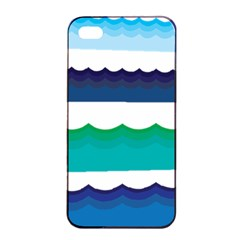Water Border Water Waves Ocean Sea Apple Iphone 4/4s Seamless Case (black)