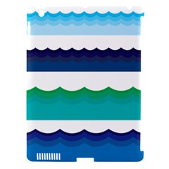 Water Border Water Waves Ocean Sea Apple Ipad 3/4 Hardshell Case (compatible With Smart Cover)