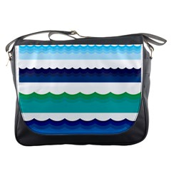 Water Border Water Waves Ocean Sea Messenger Bags