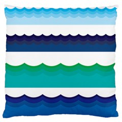 Water Border Water Waves Ocean Sea Large Cushion Case (one Side)