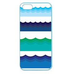 Water Border Water Waves Ocean Sea Apple Seamless Iphone 5 Case (color)