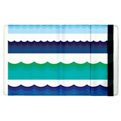 Water Border Water Waves Ocean Sea Apple Ipad 3/4 Flip Case