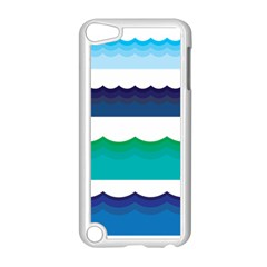 Water Border Water Waves Ocean Sea Apple Ipod Touch 5 Case (white)