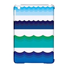 Water Border Water Waves Ocean Sea Apple Ipad Mini Hardshell Case (compatible With Smart Cover)
