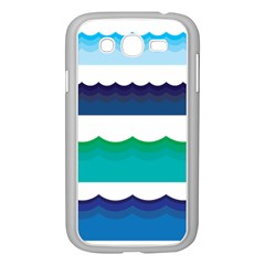 Water Border Water Waves Ocean Sea Samsung Galaxy Grand Duos I9082 Case (white)