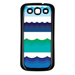 Water Border Water Waves Ocean Sea Samsung Galaxy S3 Back Case (black)