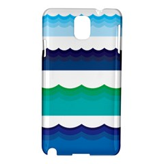 Water Border Water Waves Ocean Sea Samsung Galaxy Note 3 N9005 Hardshell Case