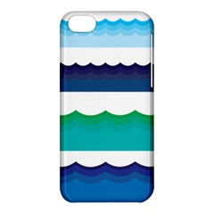 Water Border Water Waves Ocean Sea Apple Iphone 5c Hardshell Case