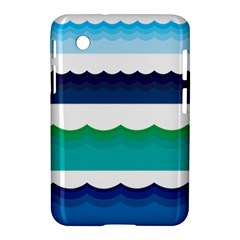 Water Border Water Waves Ocean Sea Samsung Galaxy Tab 2 (7 ) P3100 Hardshell Case