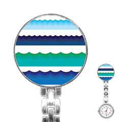 Water Border Water Waves Ocean Sea Stainless Steel Nurses Watch