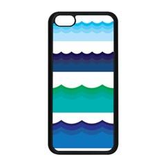 Water Border Water Waves Ocean Sea Apple Iphone 5c Seamless Case (black)