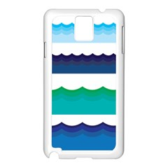 Water Border Water Waves Ocean Sea Samsung Galaxy Note 3 N9005 Case (white)