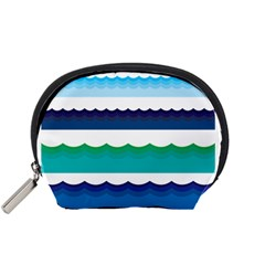 Water Border Water Waves Ocean Sea Accessory Pouches (small)