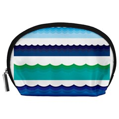 Water Border Water Waves Ocean Sea Accessory Pouches (large)