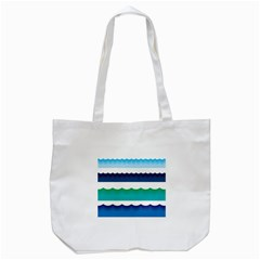 Water Border Water Waves Ocean Sea Tote Bag (white)