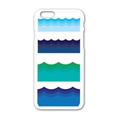 Water Border Water Waves Ocean Sea Apple Iphone 6/6s White Enamel Case