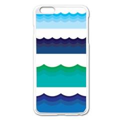 Water Border Water Waves Ocean Sea Apple Iphone 6 Plus/6s Plus Enamel White Case