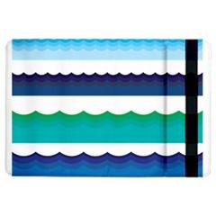 Water Border Water Waves Ocean Sea Ipad Air 2 Flip