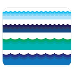 Water Border Water Waves Ocean Sea Double Sided Flano Blanket (small)