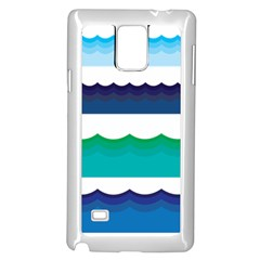 Water Border Water Waves Ocean Sea Samsung Galaxy Note 4 Case (white)