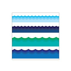 Water Border Water Waves Ocean Sea Satin Bandana Scarf